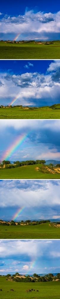 【坝上彩虹】运气哈,碰到了雨后彩虹  via 张力视觉
